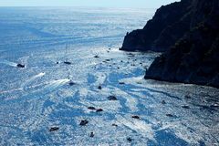 Picturesque Marina Piccola on Capri island, Italy Royalty Free Stock Photography