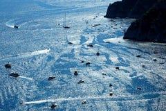 Picturesque Marina Piccola on Capri island, Italy Royalty Free Stock Image