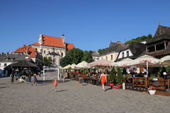 Picturesque market square in Kazimierz Dolny, Poland Royalty Free Stock Photography