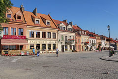 Picturesque market square in Sandomierz, Poland Royalty Free Stock Photos