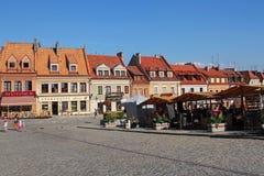 Picturesque market square in Sandomierz, Poland Stock Image