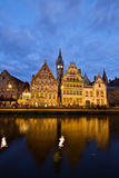 Picturesque medieval buildings, Ghent Royalty Free Stock Photo