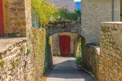 Picturesque medieval village Chateau-Chalon Stock Images