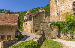 Picturesque medieval village Chateau-Chalon Royalty Free Stock Photos