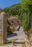 Picturesque medieval village Chateau-Chalon Royalty Free Stock Images