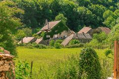 Picturesque medieval village Chateau-Chalon Royalty Free Stock Photo