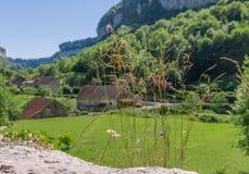 Picturesque medieval village Chateau-Chalon Stock Image