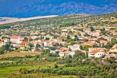 Picturesque Mediterranean island village of Kolan Stock Photography