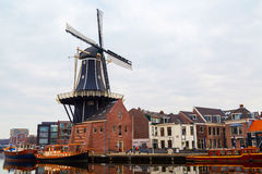 Free Picturesque Morning Landscape With The Windmill,  Haarlem, Holland Royalty Free Stock Photo - 71874295