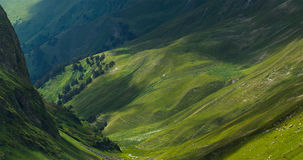 Picturesque mountain emerald valley of river Zagedanka. Stock Photos