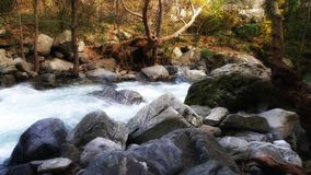 River, rushing through stones in Turkish Mount Ida National Park stock photography