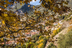 Picturesque mountain traditional village in Greece Royalty Free Stock Photography