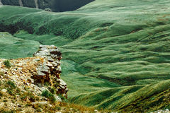 Picturesque Mountain Valley Landscape In Summer Caucasus, Russia Stock Photography