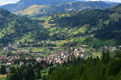 Picturesque mountain village. In Borsa - Maramures region (Romania Royalty Free Stock Photos