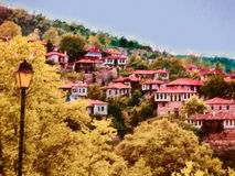 Picturesque mountain village in Greece Stock Photo
