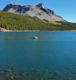 The picturesque mountains and Lake Tioga. Stock Photography