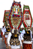 Picturesque mummers costumes Royalty Free Stock Images