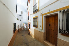 Picturesque narrow street in european city. Olvera Royalty Free Stock Photos