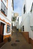 Picturesque narrow street in european city. Olvera Stock Image