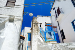 Picturesque narrow street of Peschici Stock Images
