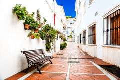 Picturesque narrow street of Rancho Domingo Royalty Free Stock Image