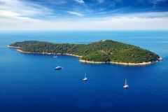 Picturesque Nature Seascape With Cruise Yachts. Royalty Free Stock Photo