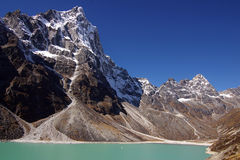 Picturesque nepalese landscape with a  lake Royalty Free Stock Photography