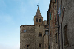 Picturesque nook in Anghiari, Tuscany. Royalty Free Stock Image