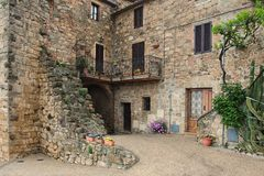 Picturesque nook of Tuscany Stock Photo