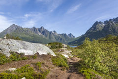 Picturesque Norway landscape, Lofoten Islands Royalty Free Stock Photos