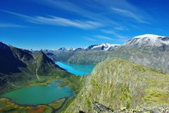 Picturesque Norway mountain landscape. Royalty Free Stock Photo