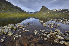 Picturesque Norway mountain landscape. Jotunheimen National Park Royalty Free Stock Images