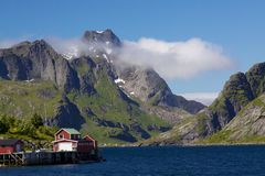 Picturesque norwegian panorama Stock Photo