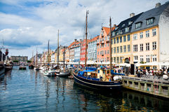 Picturesque Nyhavn in Copenhagen Royalty Free Stock Images
