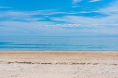 Picturesque ocean beach on sunny day Stock Photos