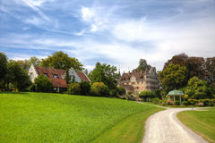 Picturesque old buildings. In swiss park, Europe Royalty Free Stock Photos