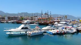 The picturesque Old Harbour in Kyrenia (Girne) Royalty Free Stock Photography