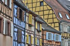 Picturesque old house in Colmar in Alsace Royalty Free Stock Photos