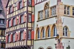 Picturesque old house in Colmar in Alsace Stock Image