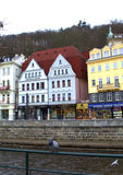 Picturesque old houses Karlovy Vary Stock Photos