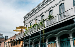 Picturesque old mansions of the French Quarter in New Orleans. Bourbon Street stock images