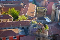 Picturesque Old town aerial view Stock Photos