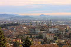 The picturesque old town of Bergamo Stock Photography