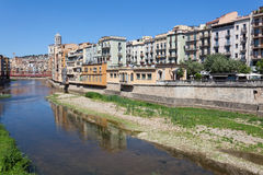 Picturesque  old town of Girona, Spain Royalty Free Stock Photo