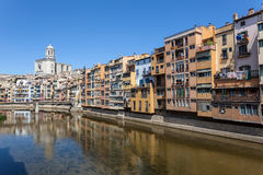 Picturesque  old town of Girona, Spain Stock Images