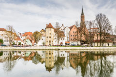 Picturesque old town of Landshut Royalty Free Stock Image