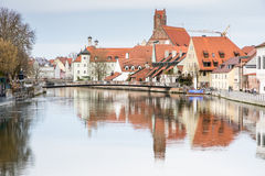 Picturesque old town of Landshut Royalty Free Stock Images