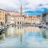 Picturesque old town Piran, Slovenia. Stock Photo