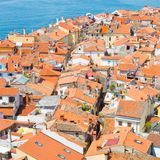 Picturesque old town Piran, Slovenia. Royalty Free Stock Photo