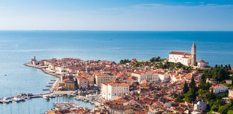 Picturesque old town Piran - Slovenia. Royalty Free Stock Photography